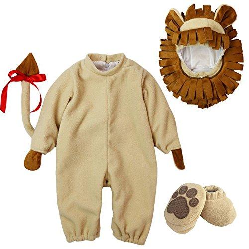 [Dantiya Baby's Cute Animal Lion Romper Costume 18-24M] (Baby Cow Halloween Costumes)