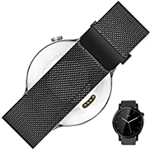 Gear S3 Classic Band, S3 Frontier Strap, Rerii Magnetic Closure, Milanese Loop, Quick Release, Stainless Steel, 22mm Watch Band, Strap for Samsung Gear S3, Moto 360 2nd 46mm, LG G Watch, Pebble Time / Time Steel
