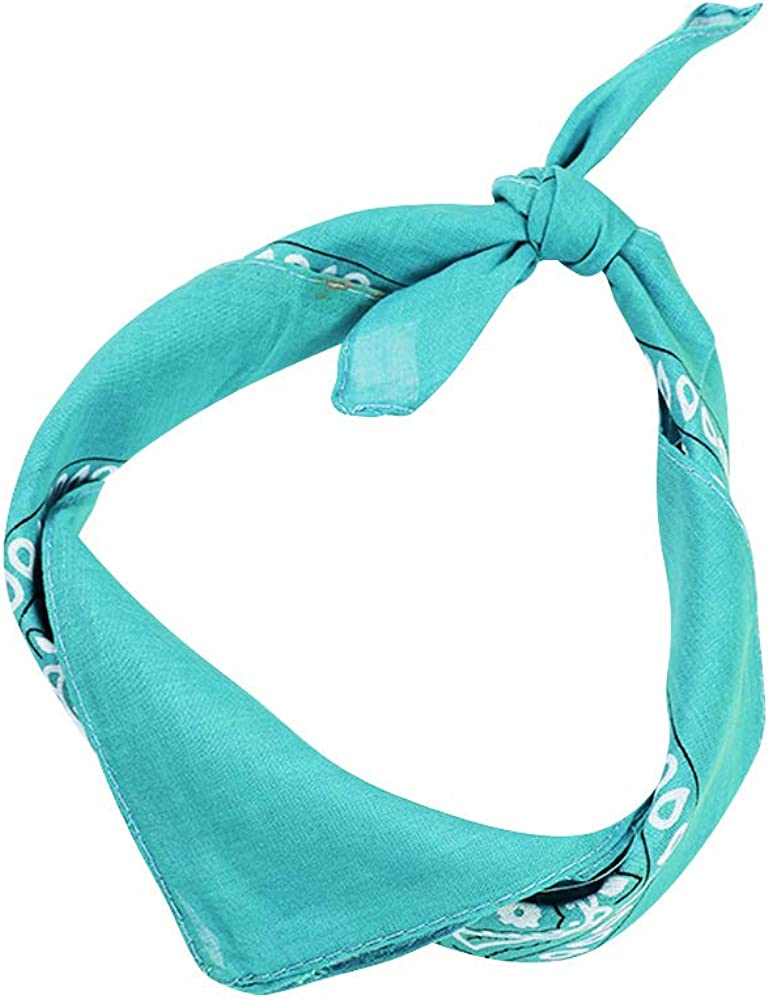 Wiwsi Bandanas Paisley pattern Coloured Headwear Scarf Neck Wrist Wrap Band Head Tie-up Square Towel