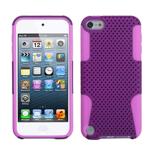 (Asmyna Purple/Electric Pink Astronoot Protector Cover for iPod touch 5)