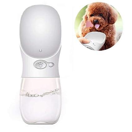 Doyime Bottiglia con Abbeveratoio 500ML in Plastica Portatile per Cani Gatti
