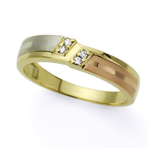 Pequeños Tesoros - Anillo de mujer - de oro amarillo (14k) Boda y de Compromiso Circonita Anillo De Matrimonio: Amazon.es: Joyería