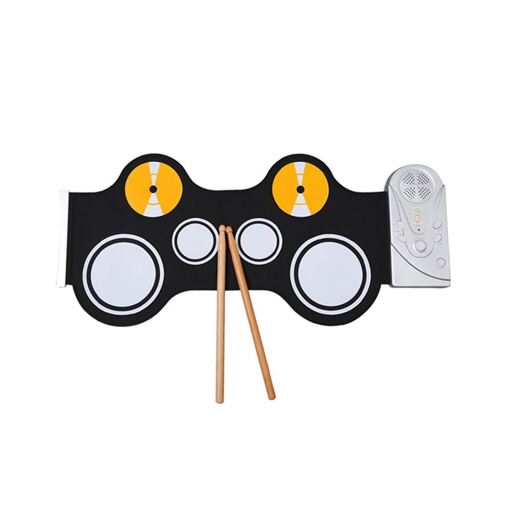 激安ブランド LIUFS-ドラム : ハンドロール電子ドラムポータブル折りたたみジャズドラムゲーム付きホーン幼児教育啓発シミュレーション子供の練習打楽器 黒) (色 : 黒 黒) 黒 B07MP5RFZV, スイムショップアクア:76d341a0 --- a0267596.xsph.ru