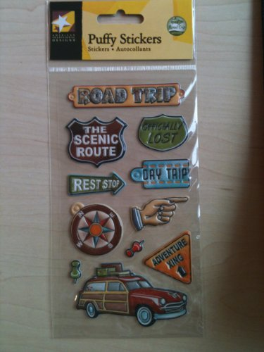 American Trip Road Traditional (Road Trip Puffy Scrapbook Stickers (ST0621))