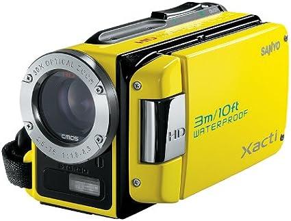 Sanyo Xacti Vpc Wh1ex Hd Camcorder 2 5 Zoll Gelb Kamera