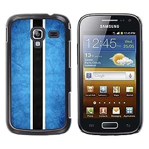 TopCaseStore / la caja del caucho duro de la cubierta de protección de la piel - Botswana Grunge Flag - Samsung Galaxy Ace 2 I8160 Ace II X S7560M