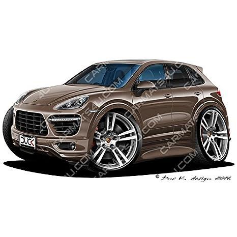 Porsche Cayenne – Adhesivo para pared (vinilo – met. Marrón, marrón, Large