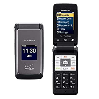 "Samsung Haven U320 Verizon CDMA Flip Phone with Slim Form Factor and Large 2.2"" Display Screen - Black/Grey"