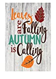 Leaves are Falling Autumn is Calling Rustic Fall Decor Metal Sign – 12″ x 8″
