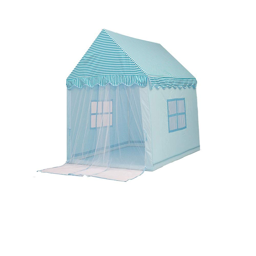 Mogicry 青い家 男の子 装飾 子供 ティピーガール お城 プリンセス スプリットベッド アーティファクト玩具 部屋 ゲームルーム 子供用 プレイテント 屋内 屋外 1+(140110145CM) Mg-1352 B07P2DGL4H Tent