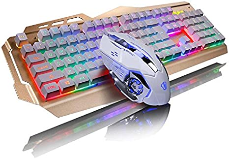 Teclados para Gamers Mecánica sensación Juego Teclado ratón ...