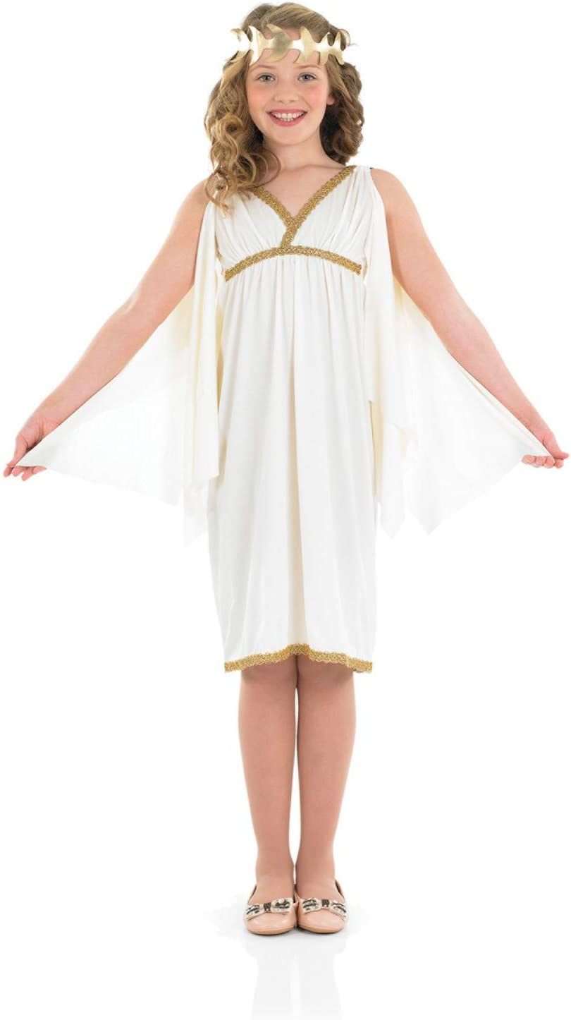 Fun Shack Blanca Diosa Romana Disfraz para Niñas - M: Amazon.es ...