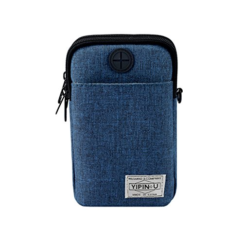 Outdoor Waterproof Diagonal Mini Bag function Shoulder Darkblue Sports Flower205 Mobile Multi Pocket Fashion Bag Zv4dnwRqxW