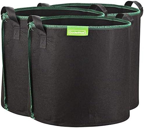 Géotextile Smart grow Pot déco jardin 30L 10 Root Pouch vert poignées