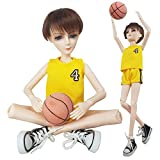EVA BJD Basketball Player Boy Doll 1/3 BJD Doll Sport Style 56cm 22inch jointed doll BJD full set + Makeup + Accessories