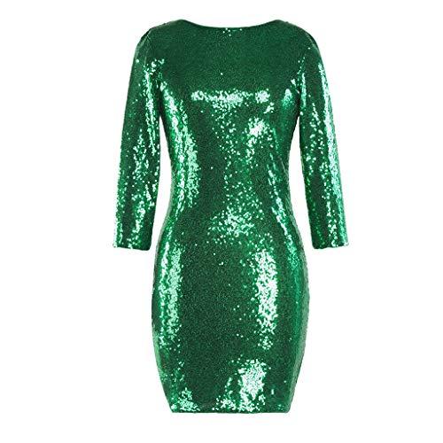 Dresses for Wedding Guest Women,Dresses Short in Front Long in Back,Ruffle Dresses for Women,White Dresses for Women Party Night Sexy,Green Dress,Green,XXL ()