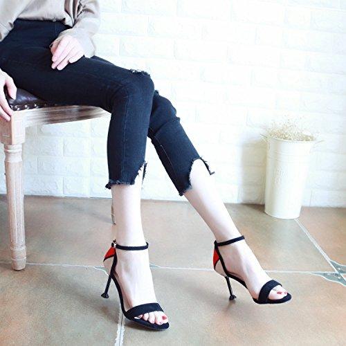 YMFIE Creux d'été de mode couleur orteils lady's sandales et chaussures à talon haut.