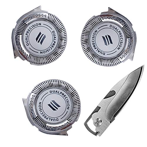 Shaver Razor Head Replacement for Philips Norelco HQ8 DualPrecision Head(3pcs) (Norelco Replacement Heads 7140xl)