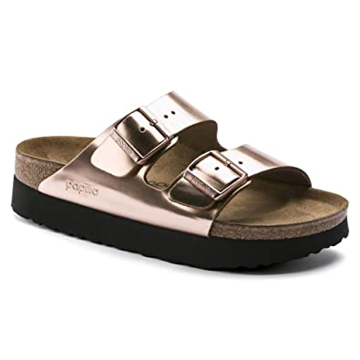 89cffdb948 Birkenstock Women's Papillio Arizona Platform Sandal Metallic Copper  Leather Size 36 ...