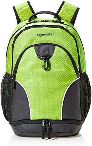 AmazonBasics - Sport-Rucksack, Neongrün