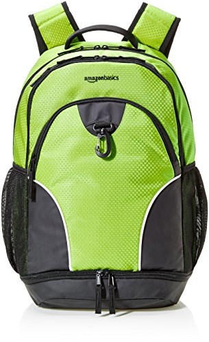 AmazonBasics Sport Laptop Backpack - Hyper Green