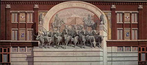Chisholm Trail, Trompe L'Oeil Painting in Sundance Square Fort Worth, Texas Original Vintage - Sundance Square