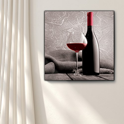 Romance Series Black White and red Color pop Deep red Wine Cabernet Merlot Shiraz Bottle and Glass
