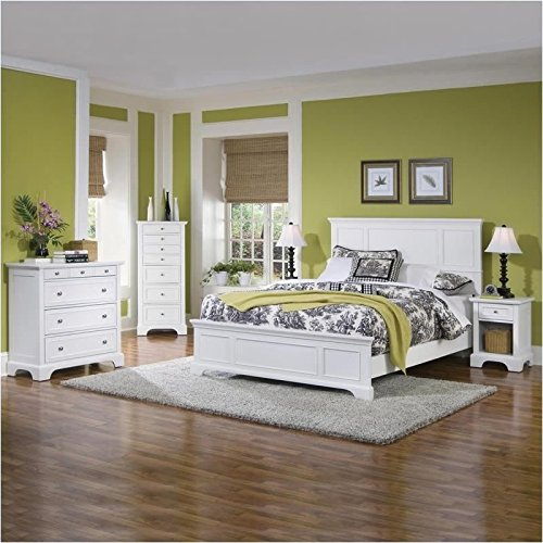 Home Styles 5530-5014 Naples Queen Bed, Night Stand - Furniture Bed Sets