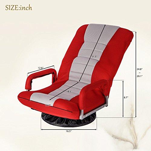 51GG5%2BWt9gL - HarperBright-Designs-Swivel-Video-Rocker-Gaming-Chair-Adjustable-Floor-Chair