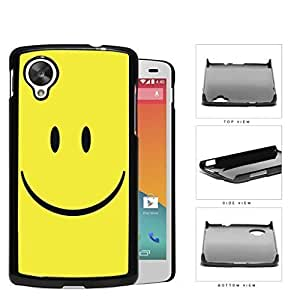 Cute Happy Yellow Smiley Face Hard Snap on Phone Case Cover Lg Google Nexus 5