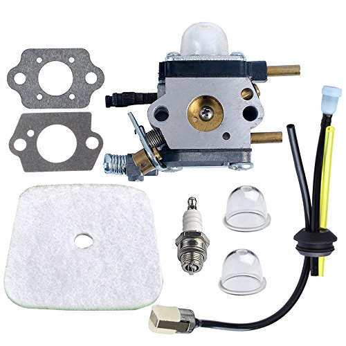 HIPA C1U-K54A Carburetor with Air Filter Repower Kit for 2-Cycle Mantis 7222 7222E 7222M 7225 7230 7234 7240 7920 7924 Tiller/Cultivator