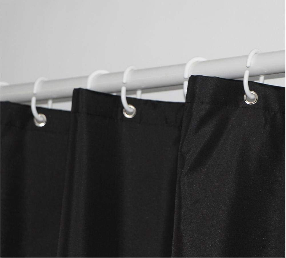 JaHGDU Shower Curtain 1pcs Black Shower Curtain Polyester Material Mildewproof Thickened Bathroom Amenities Durable Washable Hotel Shade Super Quality Opaque (Size : 180180cm) by JaHGDU (Image #5)
