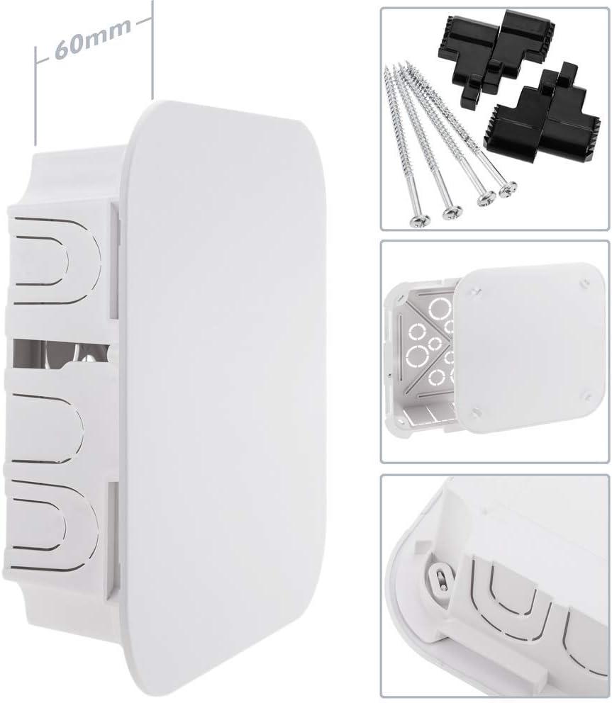 Caja empotrada de registro cuadrada 100x100x48mm para paredes huecas AE055 BeMatik