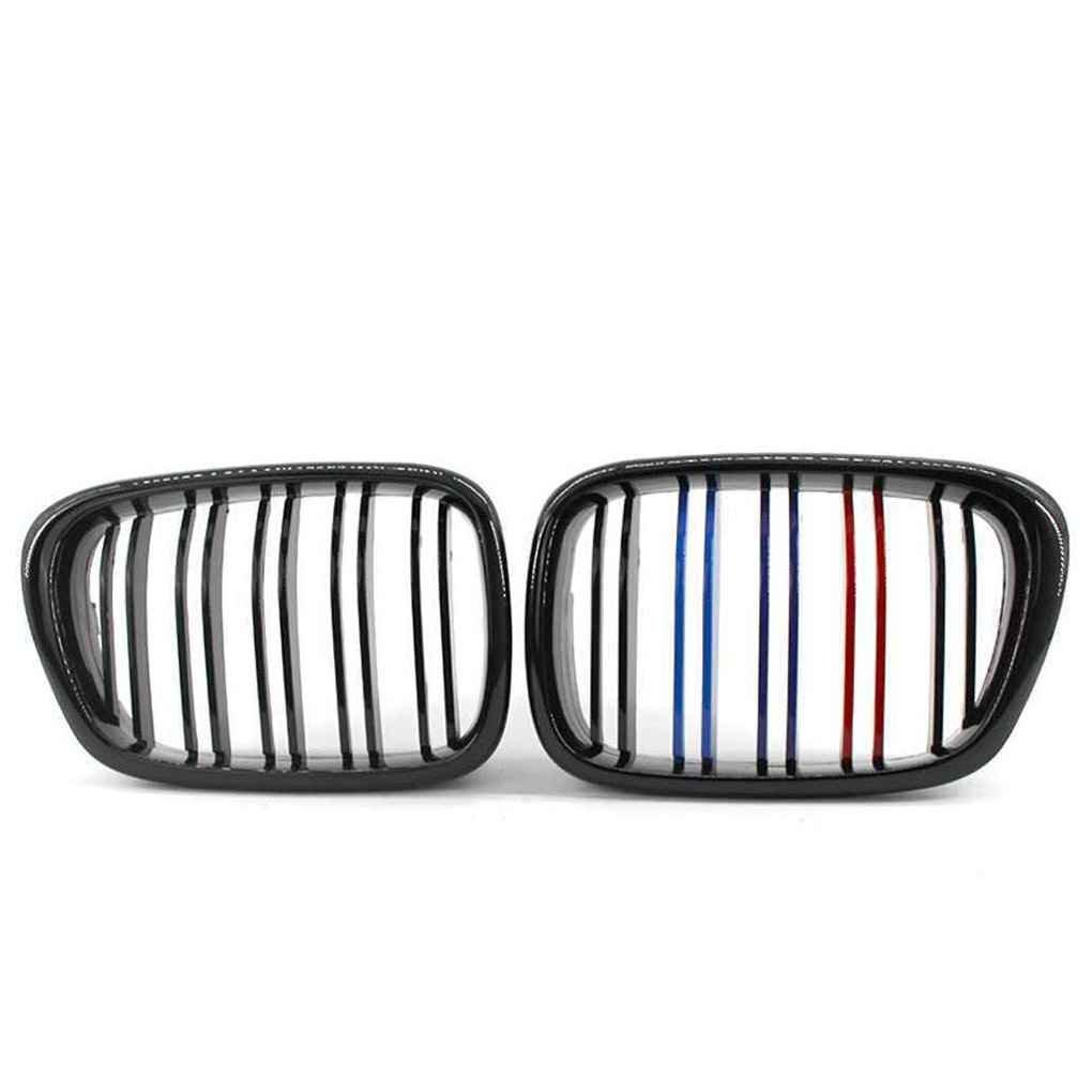 Dergtgh Negro Brillante Doble l/ínea M-Color de Rejillas de ri/ñ/ón Frontal para BMW Serie 5 E39 518 520 523 525 528 530 99-04
