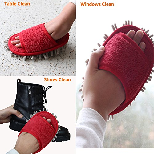 Ofoot Mop Microfiber Slippers Chenille with r0rvY7P