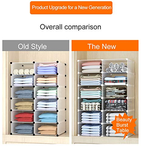 GuanJun Storage Shelf Dividers,Closet Shelf Organizer Divider and Separator for Storage and Organization (White, 2-Layers)