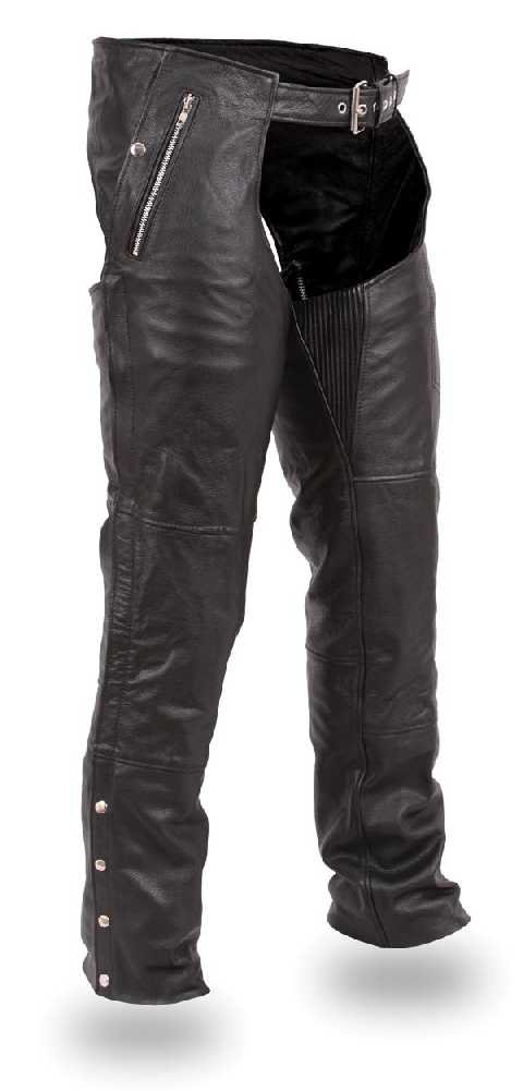 First Manufacturing Unisex Double Deep Pocket Thermal Chaps (Black, XX-Large)