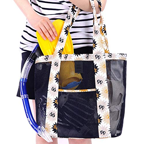 Travel Stylish Shoulder wine Beach Summer Cosmetic Zipper Bag Drotaq Food With Picnic Tote Armada Mesh 4SxfOwq8