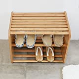 Shos Bench 2 Ties Shelf Shoe Organizer Entryway Stool Decor Furniture