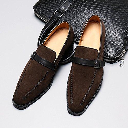 Chaussures En Cuir Pour Hommes Printemps Hommes Chaussures En Cuir Décontractée Des Hommes Daffaires Nubuck Vêtements De Cérémonie Chaussures Pointues Hommes Chaussures Simples Hommes (couleur: Café - Couleur, Taille: Eu38 / Uk5.5) - Couleur Café