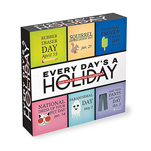 2019 Every Day's A Holiday Daily Desk Calendar TF Publishing