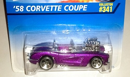 (Hot Wheels 1997 '58 Corvette Coupe 5 dot rims Collector)