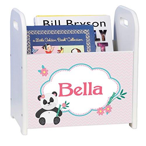 Personalized Chevron Panda White Book Caddy and Rack by MyBambino