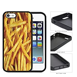 Golden French Fries Rubber Silicone TPU Cell Phone Case Apple iPhone 5 5s
