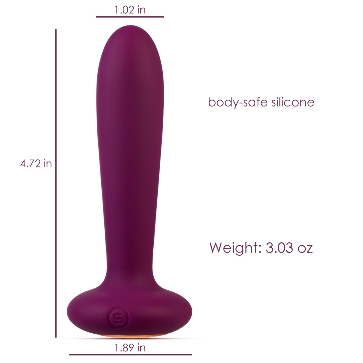 Vibrating Anal Plug and Prostate Massager - Rechargeable & Waterproof Anal Sex Toys - Body Safe Silicone - 5 Stimulation Modes Vibrator - for Men, Women or Couples (Violet)