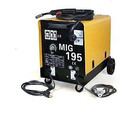 Zeny MIG195 Welder Flux Core Auto Wire Welding Machine Gas/ No Gas Mode With Wheels