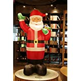 Fashionlite 8 Feet Christmas Xmas Inflatable Santa Claus Lighted Blow-Up Yard Party Decoration