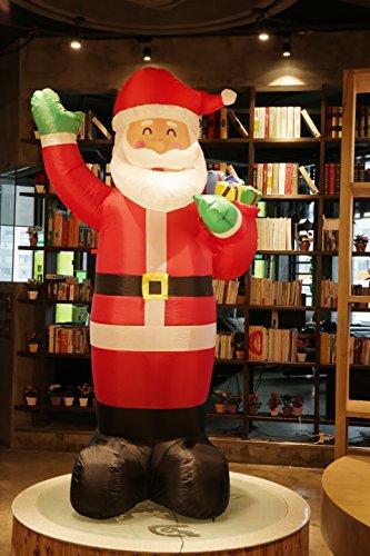 Fashionlite 8 Feet Christmas Xmas Inflatable Santa Claus Lighted Blow-Up Yard Party Decoration (Christmas Santa Claus)