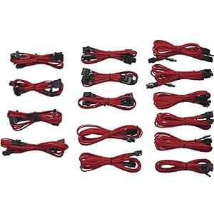 Corsair CP-8920049 - Kit de cable modular para alimentación, rojo