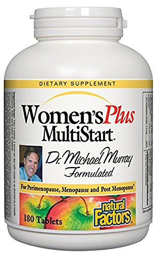 Natural Factors - Dr. Murray's Women's Plus Multistart Formula, Support for Perimenopause, Menopause & Postmenopause, 180 (50 Plus Formula Tablets)